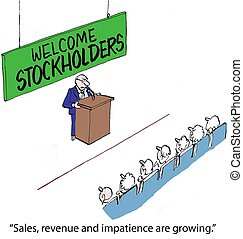 "Annual Stockholders Meeting - ""Sales, revenue and impatience..."