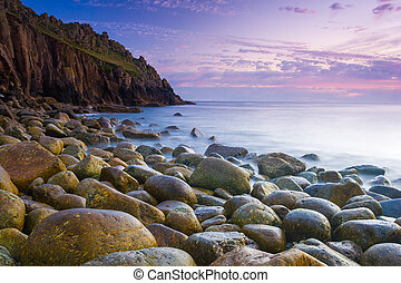 Beautiful Cove At Dusk - Beautiful dusk at the remote Porth...