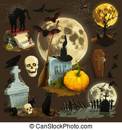 Halloween - Clip art illustrations for Halloween celebration