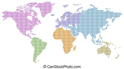 continent colors men pattern world map - continents colors...