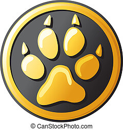 paw print button icon