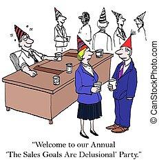 anual, vendas, Metas
