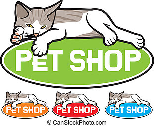 pet shop label pet shop symbol, pet shop design, pet shop...