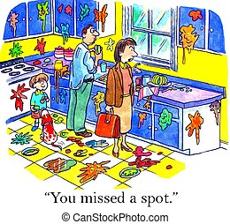 """Work-Life Balance - """"You missed a spot."""""""