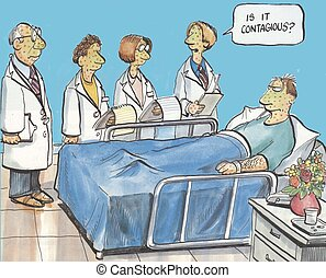 """Patient in hospital - """"Is it contagious?"""""""