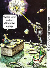 Alternative energy - That is some serious alternative energy...