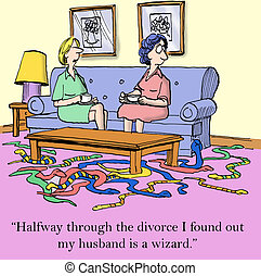 Husband wizard - Halfway through the divorce I found out my...