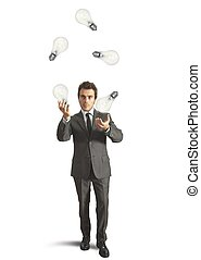 Juggler genius - Concept of genius businessman like a...