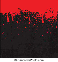 Blood splatter background - Grunge style Halloween...