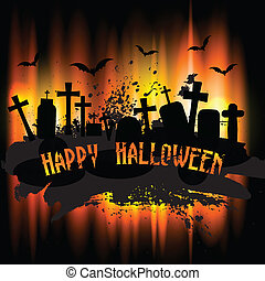 Halloween background - Spooky grunge Halloween background...