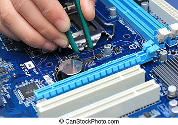 Professional repair of a circuit printed board