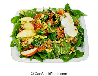 fresh and healthy salad isolated on a white background