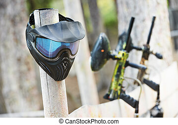 paintball equipment - Equipment for paintball playing...