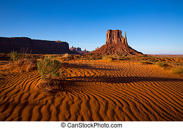 Monument Valley West Mitten Butte Utah Park - Monument...