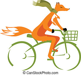 Fox on a bike