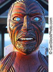 Indigenous art - Traditional Maori carving in national...