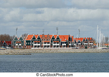 typical dutch houses in the netherlands