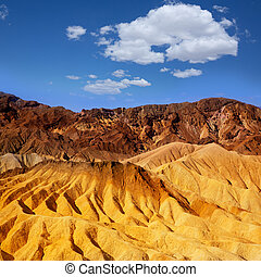 Death Valley National Park California Zabriskie point eroded...