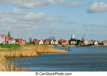 a small dutch village near amsterdam in the netherlands...