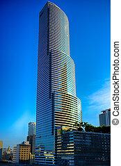 Skyscraper in Miami - Skyscrapers in a city, Miami,...