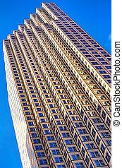 Skyscraper in Miami - Low angle view of a skyscraper, Miami,...