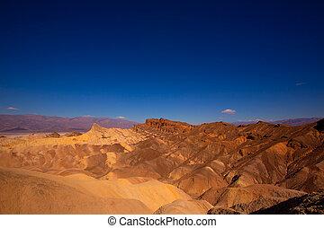 Death Valley National Park California Zabriskie point eroded...