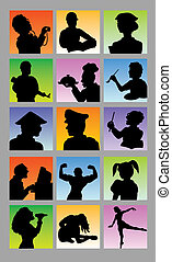 Profession Avatar Silhouettes - Nice and smooth vector, good...