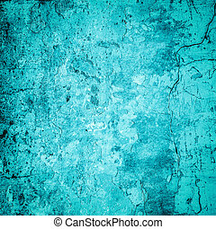 Turquoise grunge background or texture