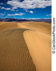 Mesquite Dunes desert in Death Valley National Park...