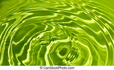 Waves on a surface of green water.