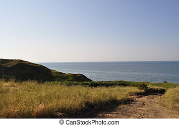 Azov Sea - views of the countryside and the coast of the...