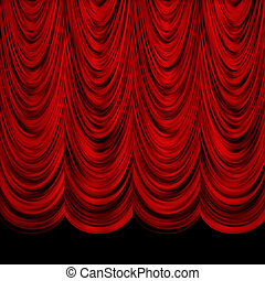 Decorative red curtains - Red decorative vintage curtains...