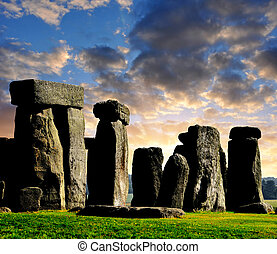 Stonehenge - Historical monument Stonehenge in the...