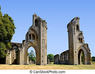 Glastonbury Abbey - The historic ruins of Glastonbury Abbey...