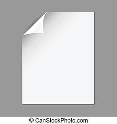 unique, papier, page, plier, maïs