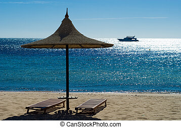 beach and turquoise water - topical beach and turquoise...