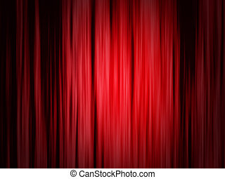 Red theater curtain - Classical red curtain of theater stage...