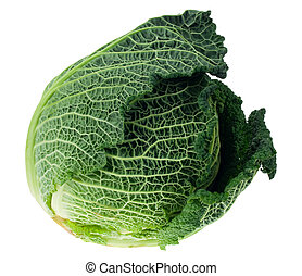 fresh kale isolated on a white background