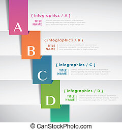 abstract paper infographic elements - vector abstract 3d...