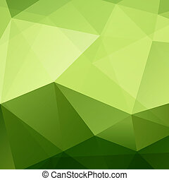 Abstract Green Background - Abstract Green Triangle...