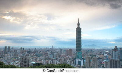 sunset of Taipei citytime lapse for adv or others purpose...