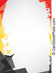 background origami of Belgium - a design background (Origami...