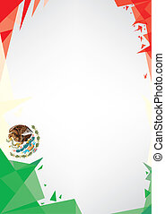 background origami of Mexico - a design background (Origami...