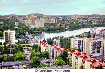 Donetsk, Ukraine - The beautiful city of Donetsk, Ukraine. A...