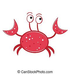 Crab - Red crab lobster ocean sea fish