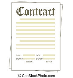 Contract - Illustration of the paper blank contract form