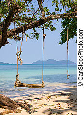 Beautiful beach and tropical sea, Thailand. - Tropical beach...