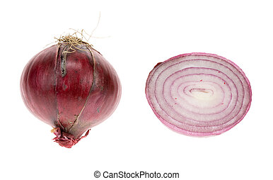 red onion isolated