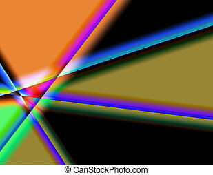 Prisms of Colour - vibrant and connecting colours create an...