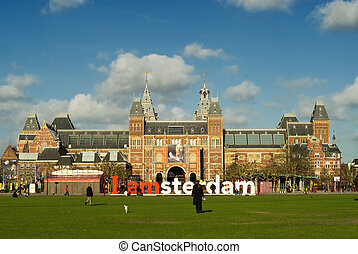 "Amsterdam - The letters ""Amsterdam\"" in front of the..."